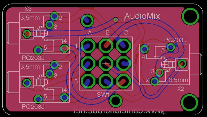 audio mux p2 PCB