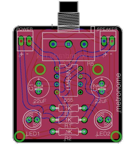 Metronome PCB Eagle